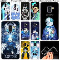 Hot Coque Undertale Sans Silicone Case For Samsung Galaxy A50 A30 A10 A40 A6 A8 Plus A20 E A5 A7 2018 2017 2016 Note 9 8 Cover