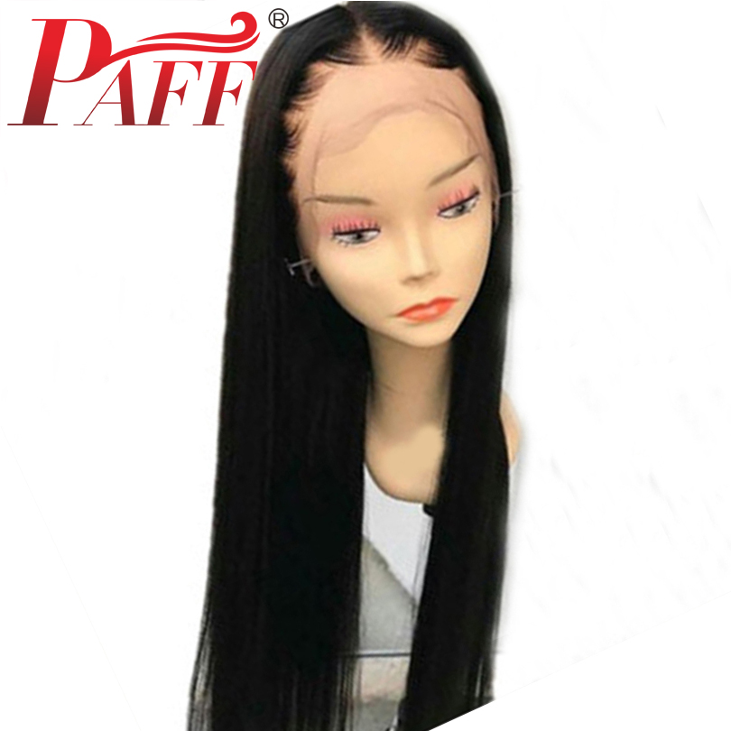 PAFF Straight Full Lace Human Hair Wigs Brazilian Remy Hair Lace Wigs With Baby Hair Natural