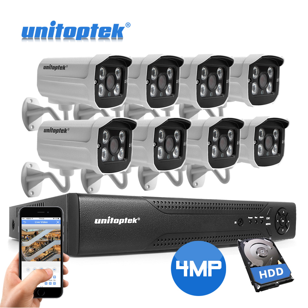 8CH 4MP del Sistema di Sicurezza CCTV 48 V POE NVR IP della Macchina Fotografica Esterna Impermeabile IP66 Plug And Play H.265 Video di Sorveglianza kit XMEye8CH 4MP del Sistema di Sicurezza CCTV 48 V POE NVR IP della Macchina Fotografica Esterna Impermeabile IP66 Plug And Play H.265 Video di Sorveglianza kit XMEye
