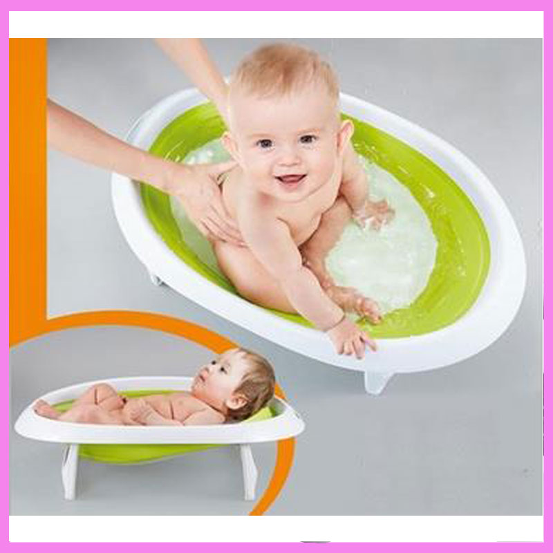 2 In 1 Foldable Newborn Baby Bathtub Baby Sitting Lying Shower Bath Tub Bucket Bath Support Safety Seat 0~18 M ...