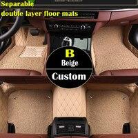 Двойной слой пользовательские автомобильные коврики для Suzuki все модели Jimny grand vitara Kizashi Swift SX4 Wagon R Палитры stingray автомобиль ST