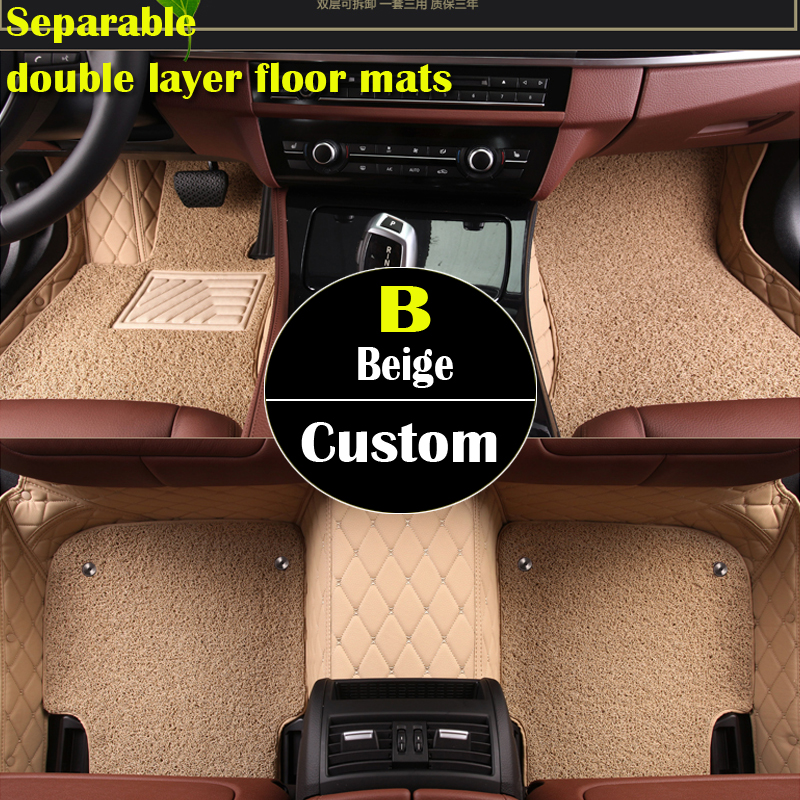 double layer custom car floor mats for  Suzuki All Models Jimny Grand Vitara Kizashi Swift SX4 Wagon R Palette Stingray car st auto engine power steering pump 49100 65j00 4910065j00 55113201 for suzuki grand vitara ii jt 2 0