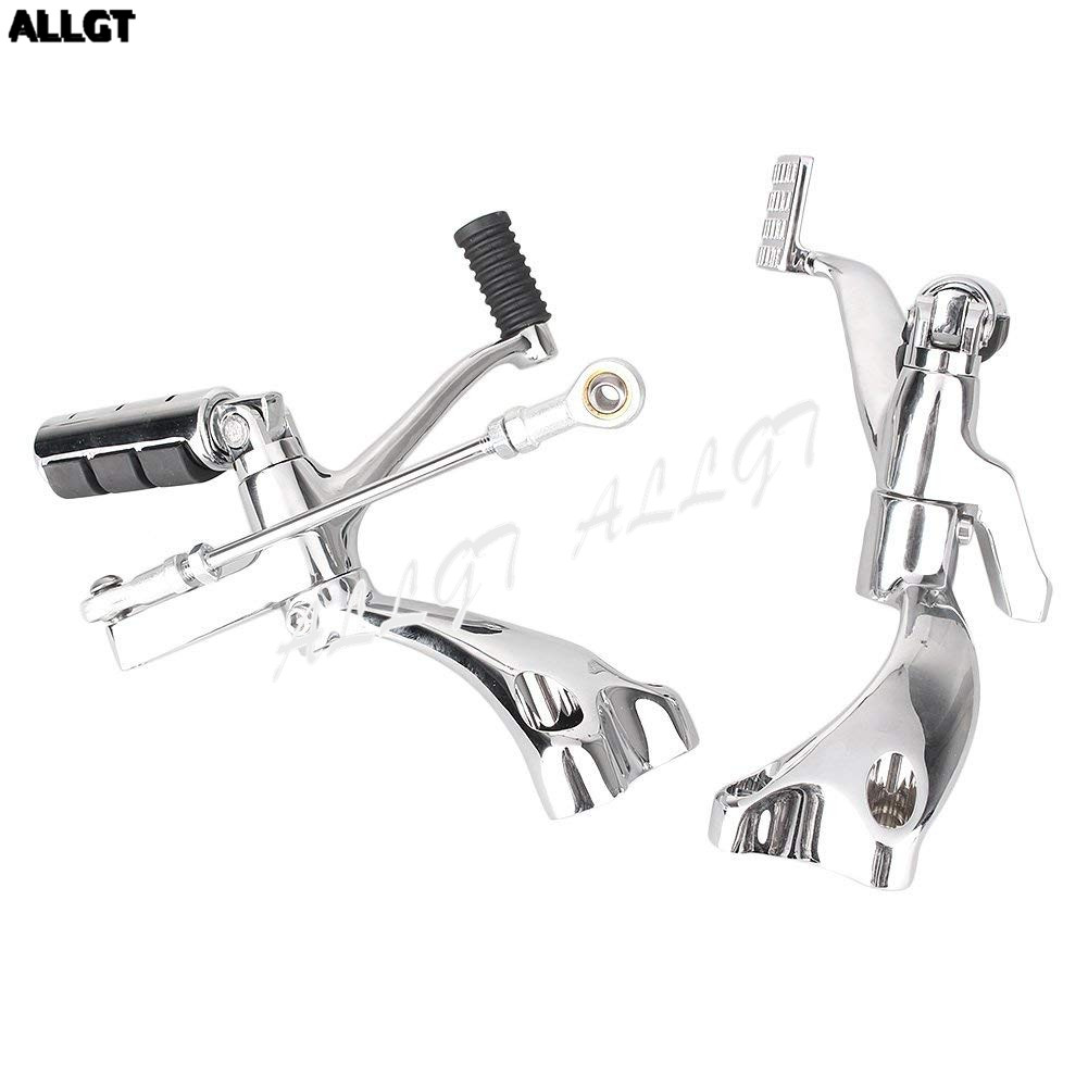 Forward Controls Kit Footpeg Levers Linkages For Harley Sportster 883 1200 XL 48