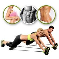 Ab Roller Wheel Stretch Elastic Abdominal Resistance Pull Rope Tool Muscle Trainer Arm Waist Leg Exercise Gym Fitness Equipment