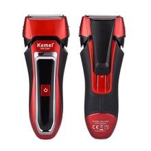 Rasoir électrique à Double maille, rasoir professionnel Rechargeable pour hommes, étanche, 2 lames alternatives, avec batterie Li ion 800 mAh,