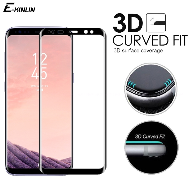 3D Curved Edge Full Cover Tempered Glass For Samsung Galaxy S9 S8 S7 S6 edge Plus Note 9 8 Screen Protector Protective Film