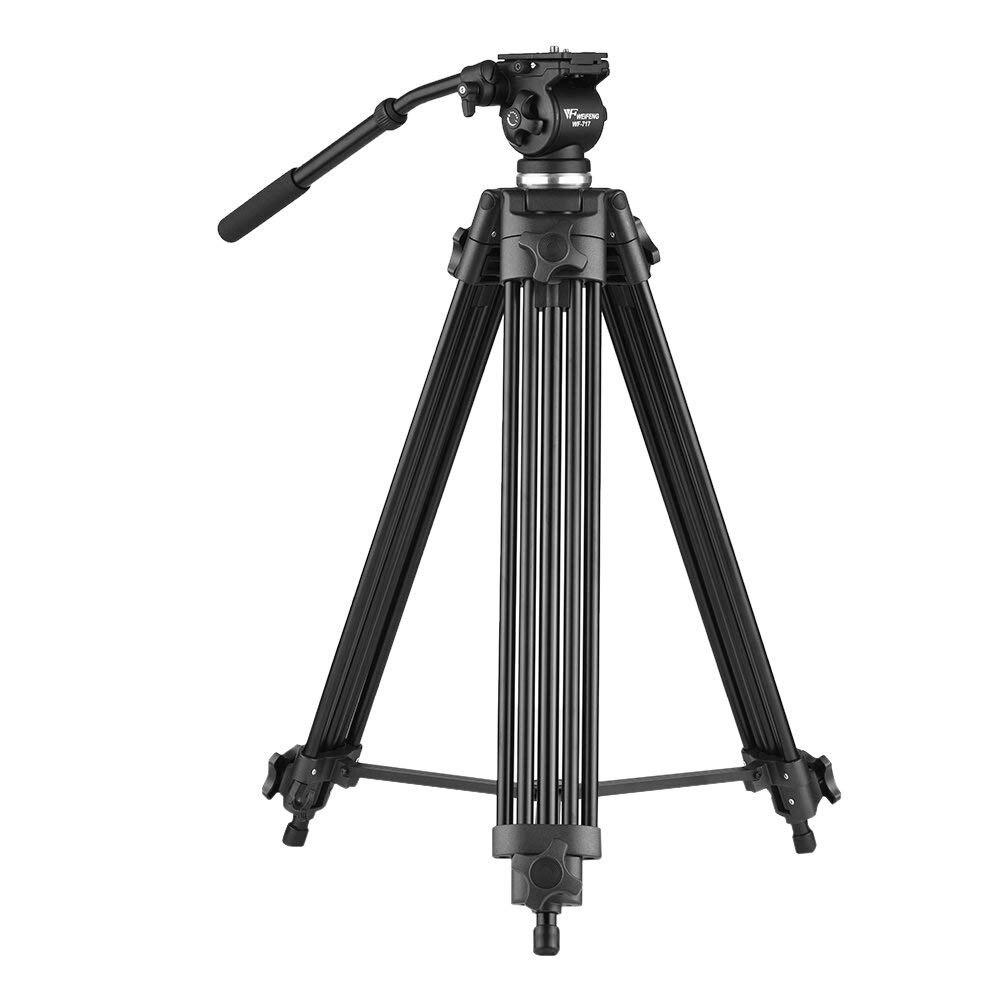 Andoer Weifeng WF-717 1.8 m Professionnel En Alliage D'aluminium Caméra Caméscope Vidéo Trépied avec Fluide Hydraulique Tête pour C N