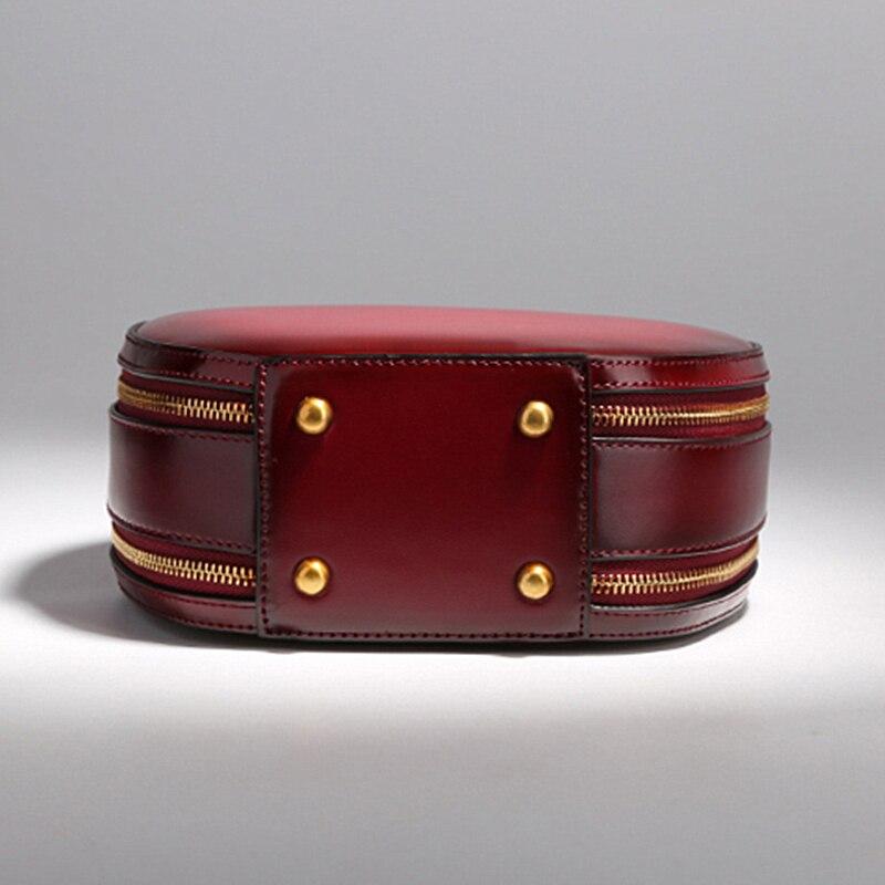 Burminsa Brand Cute Apple Shape Genuine Leather Bags Ladies Shoulder Messenger Bags Designer Handbags Crossbody Bags For Women