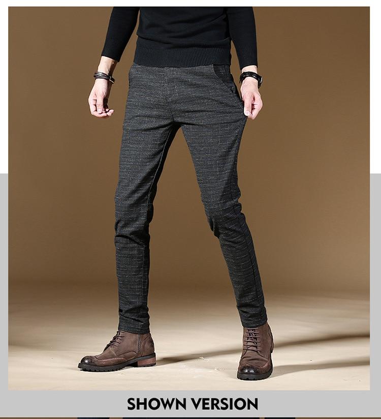 HTB15BqcXMaH3KVjSZFpq6zhKpXaf 2019 Fashion High Quality Men Pants Spring Autumn Men Pants Trousers Male Classic Business Casual Trousers Full length