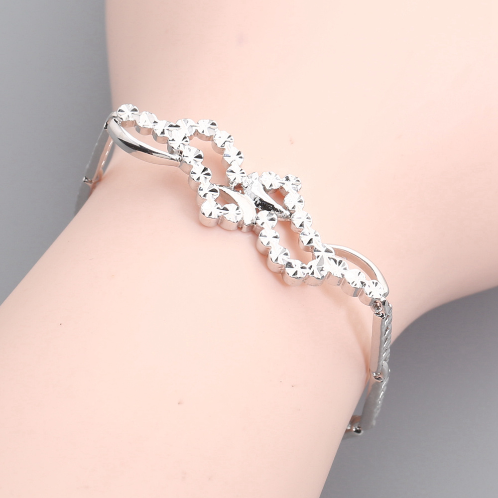 Simple Fadeless No allergy Silver Bracelet BY0050
