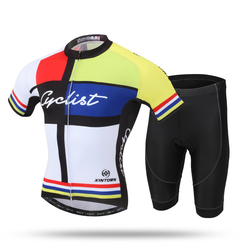 XINTOWN Men Summer Short Sleeve Cycling Set Mountain Bike Clothing Breathable Bicycle Jerseys Clothes Maillot Ropa Ciclismo polyester summer breathable cycling jerseys pro team italia short sleeve bike clothing mtb ropa ciclismo bicycle maillot gel pad