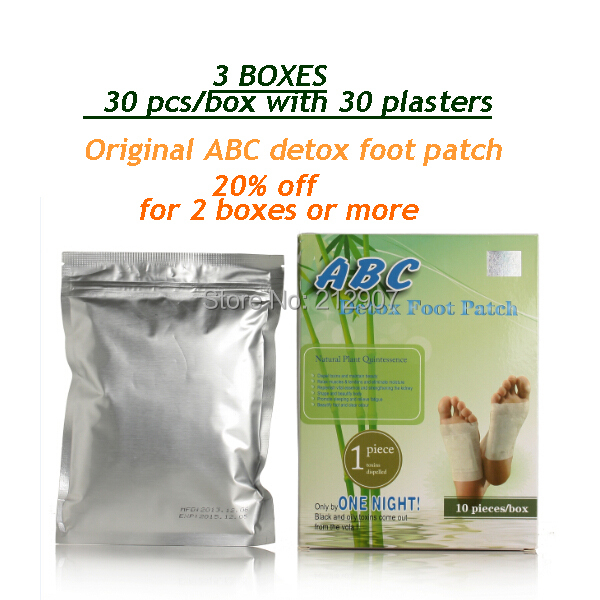 FREE SHIPPING 30 PCS PATCH  Original ABC detox foot pads, detox foot spa, dody detox
