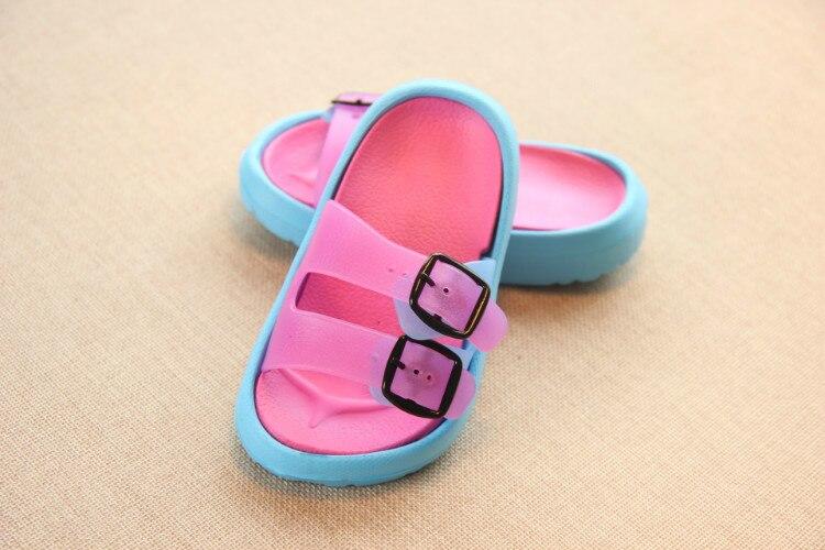 Slippers Kids for Girls Beach Sandals Summer Baby Slippers Boys Flat House Flip Flop Children Non-slip Korea Home Casual Shoes 17