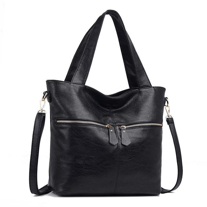 Γυναικεία τσάντα από δέρμα πραγματικού δέρματος 2019 τσάντα μόδας τσάντα μεγάλης χωρητικότητας αγελάδα αγγελιοφόρος τσάντα αμάνικο γυναικείο A20