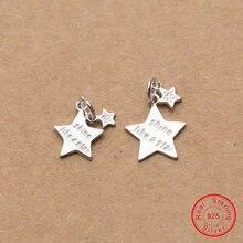 Uqbing ручной работы 925 пробы серебряные двойные маленькие