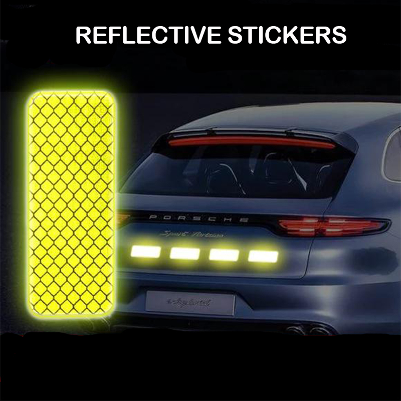 1PCS Reflective Warning Sticker Wheel Eyebrows Door Opening Stickers Diamond Wheel Reflective Strip Car Stickers Car Accessories