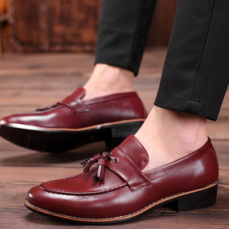 Formal Shoes 2019 New Design Fashion Mens Tassel Shoes Luxury Leather Italian Formal Snake Skin Dress Office Footwear Drop Shipping To Enjoy High Reputation In The International Market