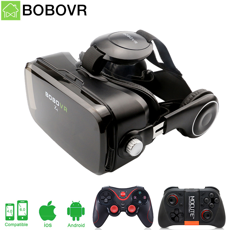 BOBOVR Z4 <font><b>VR</b></font> <font><b>Box</b></font> 2.0 <font><b>Virtual</b></font> <font><b>Reality</b></font> goggles 3D <font><b>glasses</b></font> bobo <font><b>vr</b></font> Google cardboard headphone for 4.0-6.0 inch smartphones
