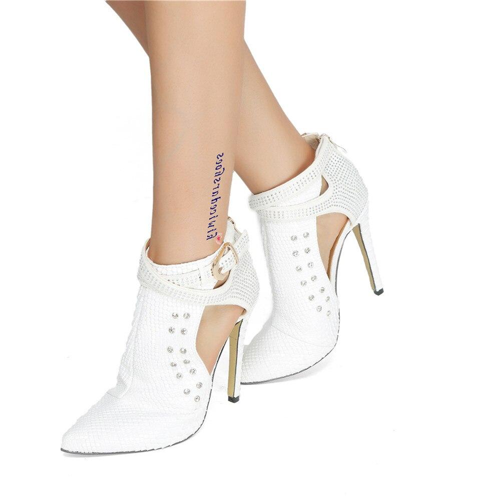 47 Zip Taille Talons Neuf Ceinture Grande Femme Blanc Chaussures Flambant Sexy Décontracté Pour Partie Mince Sarairis Creux Hauts 34 vin Rouge Sandales Boucle Cristal D'été 7ftwX5