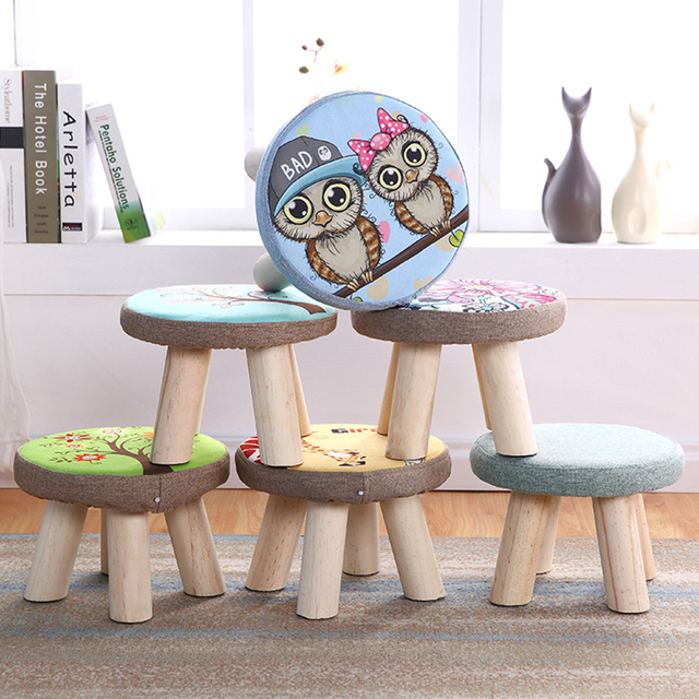 Pleasant Us 25 0 Modern Round Pouffe Foot Stool Small Wooden Step Stool Chair Nordic Home Living Room Furniture In Stools Ottomans From Furniture On Frankydiablos Diy Chair Ideas Frankydiabloscom