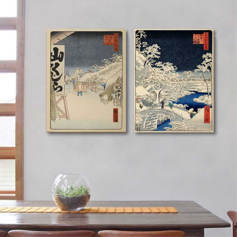 Japanese Traditional Landscape Poster Canvas Art Print  , Japanese Style Canvas Painting Wall Picture Home Wall Decor