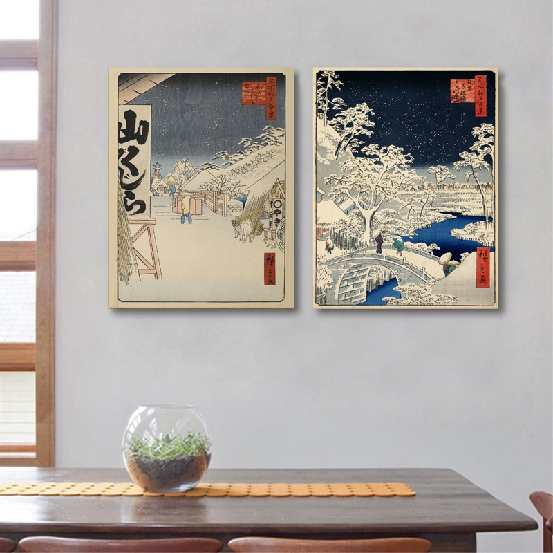 Traditional Japanese Home Decor: Japanese Traditional Landscape Poster Canvas Art Print