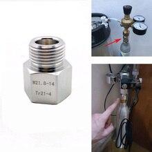 SodaStream цилиндрический адаптер конвертер в W21.8 аквариумных рыб или домашнего пивоварения банальный бочонок Co2 регуляторы резервуара