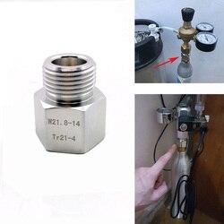 Convertisseur d'adaptateur de cylindre SodaStream en W21.8 poissons d'aquarium ou bière de maison Corny fût régulateurs de réservoir de Co2