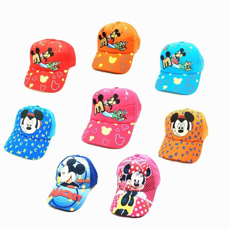 New Disney car 3 Disney Mickey Minnie breathable sun hat summer baseball net cap cartoon cartoon character boy girl gift(China)