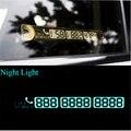 15*2 cm Número do Cartão de Telefone Cartão de Estacionamento Temporário Aviso Noite Luminosa Otário Placa de Número de Telefone Do Cartão