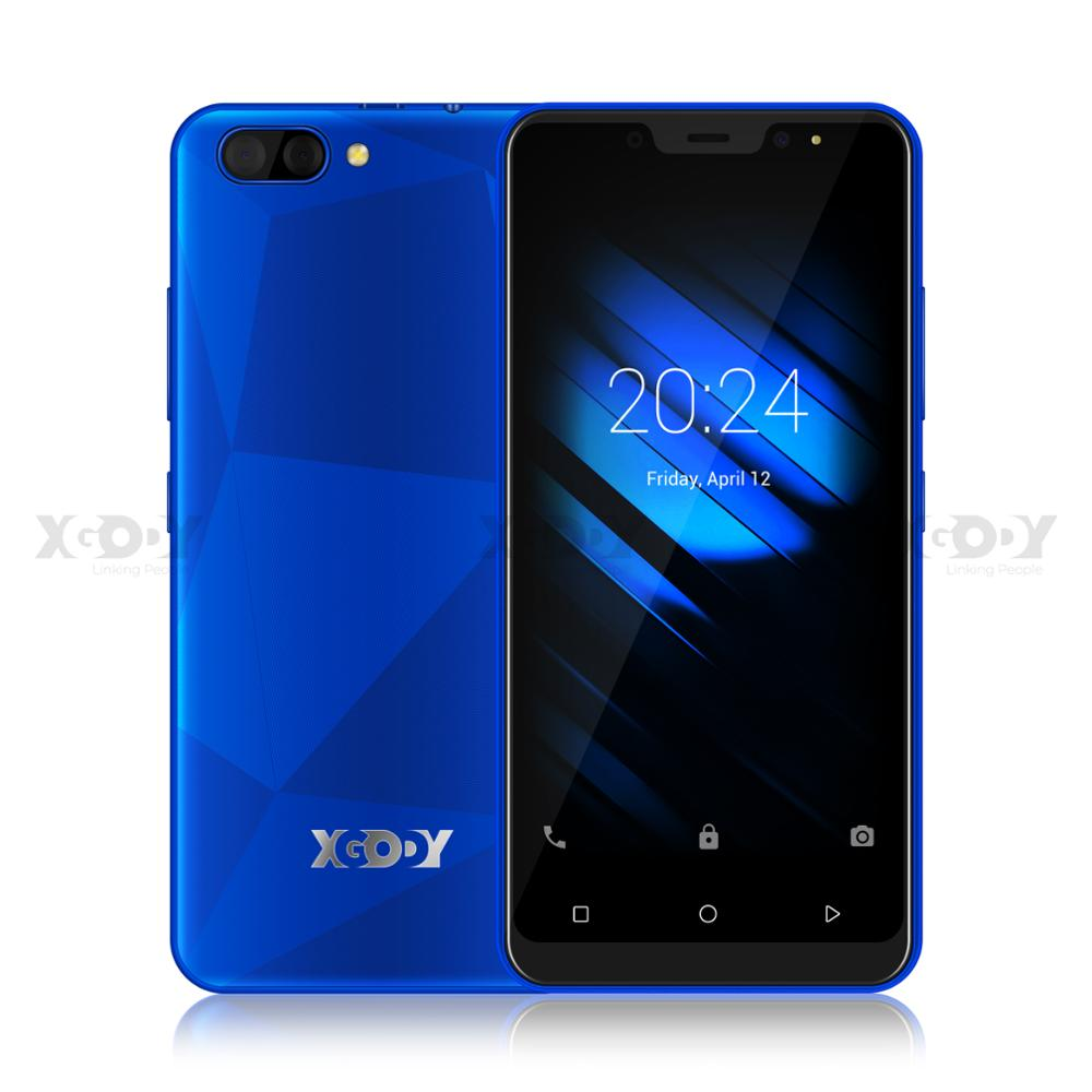 3G Smartphone Android 9.0 Quad Core MTK6580 5.0 Screen 1GB RAM 16GB ROM Dual Cameras Cell Phone of Xgody X27