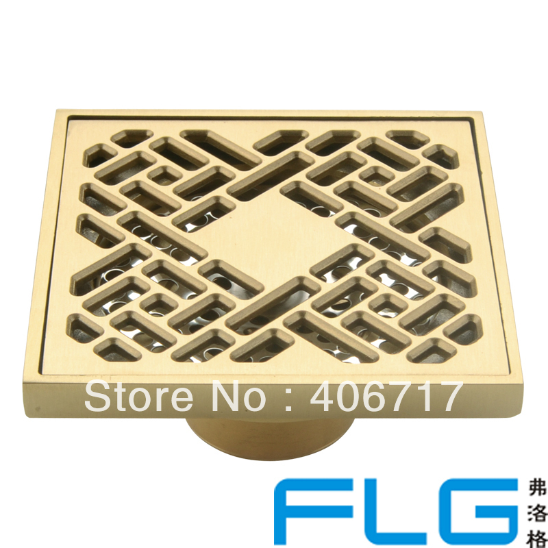 luxury brass art carved flower decorative cover bathroom floor waste grate shower drain drainer 8124in drains from home improvement on