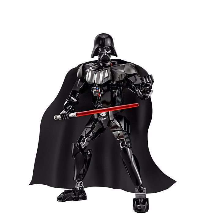 2016 KSZ Star Wars Darth Vader with Lightsaber White Storm Trooper w/gun Figure toys building blocks set compatible