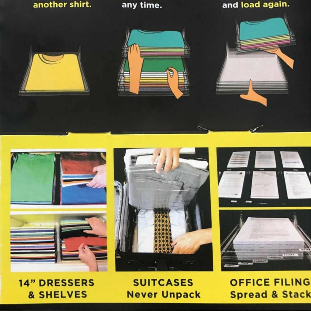 1 шт. гардероб организатор и складыватель для рубашек Одежда раза шкаф помощник офисный стол файл организации Прямая доставка