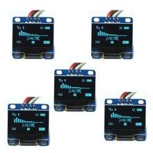 "5 uds. 0,96 ""pulgadas azul I2c IIC Serial Oled LCD LED módulo 12864 128X64, para Arduino Display Raspberry PI 51 Msp420 Stim32 SCR"