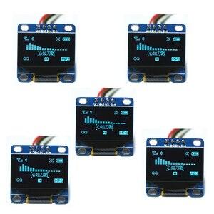 "Image 1 - 5 uds. 0,96 ""pulgadas azul I2c IIC Serial Oled LCD LED módulo 12864 128X64, para Arduino Display Raspberry PI 51 Msp420 Stim32 SCR"