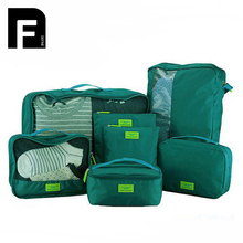 2017 Nylon Packing Cube Travel Durable 7 Pieces One Set Large Capacity Of Bags Unisex Clothing Sorting Organizer
