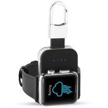 Мощность банка для Apple watch портативный брелок для ключей Беспроводной Магнитная Зарядное устройство встроенный Мощность Bank 950 mAh для applewatch серии 4 3 2 1