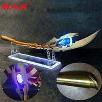 1/1 Rocky hand wand shake hiddleston Loki Avengers Alliance 3 infinity War Gem Cos metal alloy model cold weapon model toy