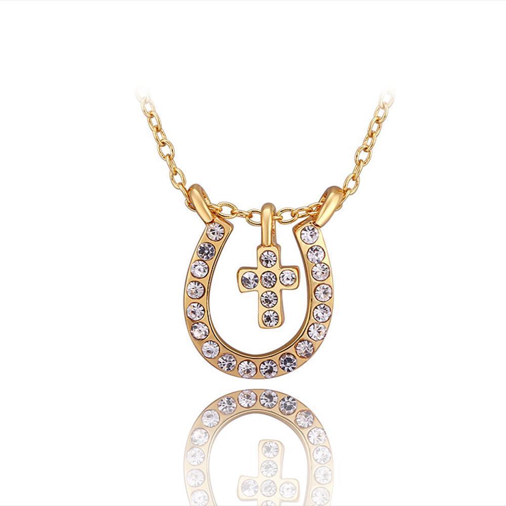 N728 WholesaleNickle Free Antiallergic18K Real Gold PlatedNecklace pendantsNew Fashion JewelryFor Women