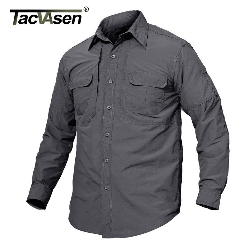 TACVASEN Men's Brand Tactical Clothing Quick Drying Military Shirt Breathable Long Sleeve Shirt Men Combat Shirts TD-JNE-003