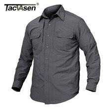 TACVASEN männer Marke Taktische Schnell Trocknend Shirt Atmungs Camp Casual Langarm-shirt Männer Kampfmilitärstiefel Shirts TD-JNE-003