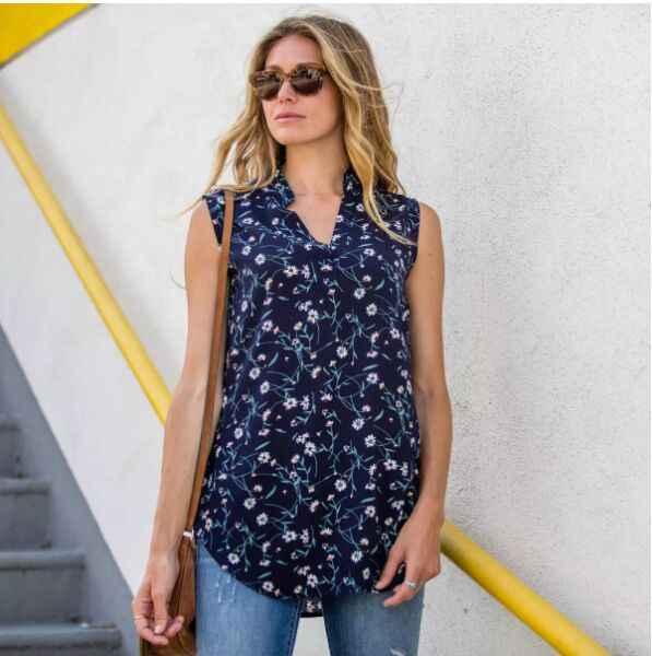 ZOGAA 2019 neue Frauen Damen Sommer Weste Top Ärmelloses v-ausschnitt frauen Hemd Bluse Casual Tank Shirt Tops 3