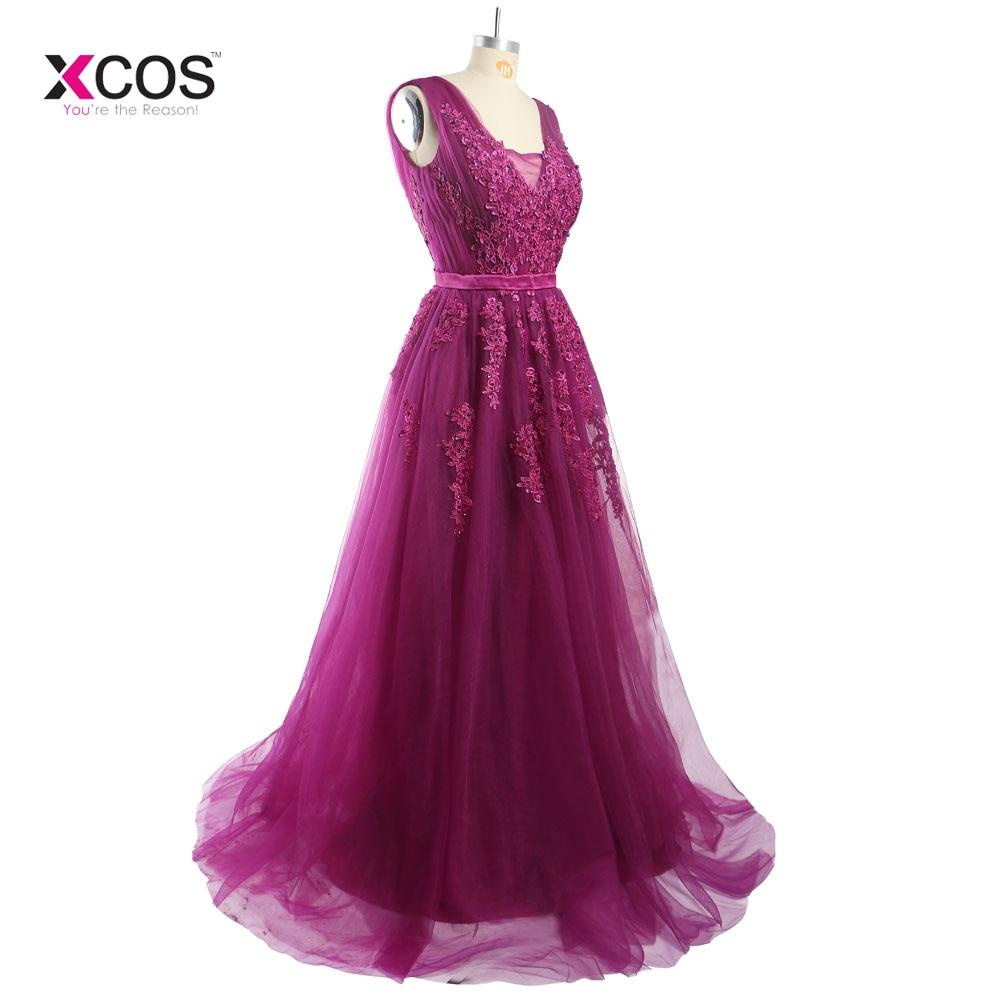Lungimi formale lungi de lungime V-gât rochii de domnisoare de - Rochii de seară de nuntă - Fotografie 2