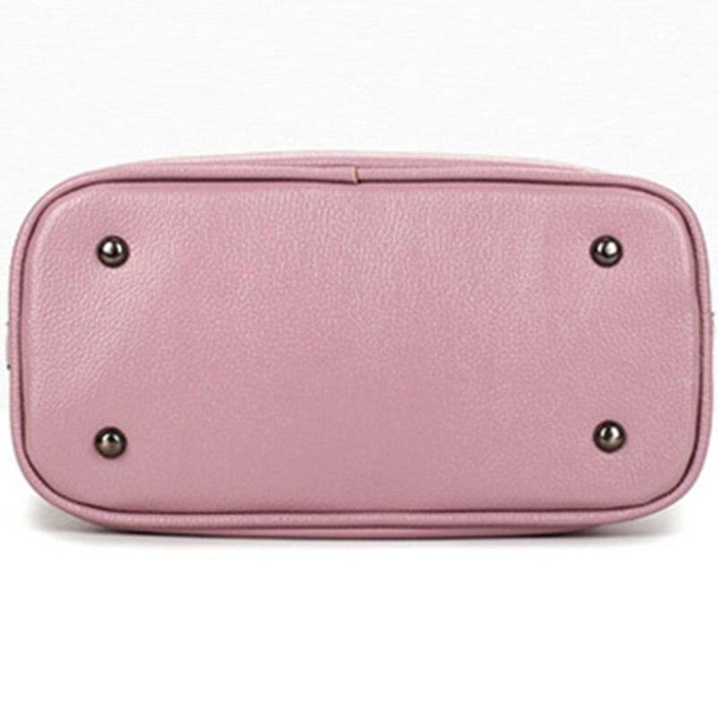 bolsa de borla bolsas de PU Leather Bag Estilo : European And American Estilo Women Handbags Tassel Bucket Bag