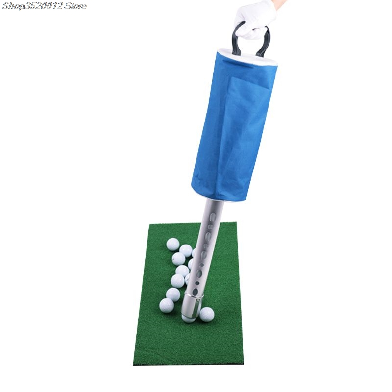 Golf Ball Picker Shag Bag Putter Holder Storage Retriever Portable Ball Catcher Collector