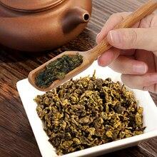 Cuillère à thé en bambou naturel feuilles, choix, choix cuillère délicate pour thé Sauce miel sucre café Style rétro