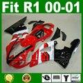 OEM ersetzen Verkleidungen fit für YAMAHA YZF R1 2000 2001 jahr modell Rot weiß YZFR1 00 01 karosserie verkleidung kit teile Y6X3