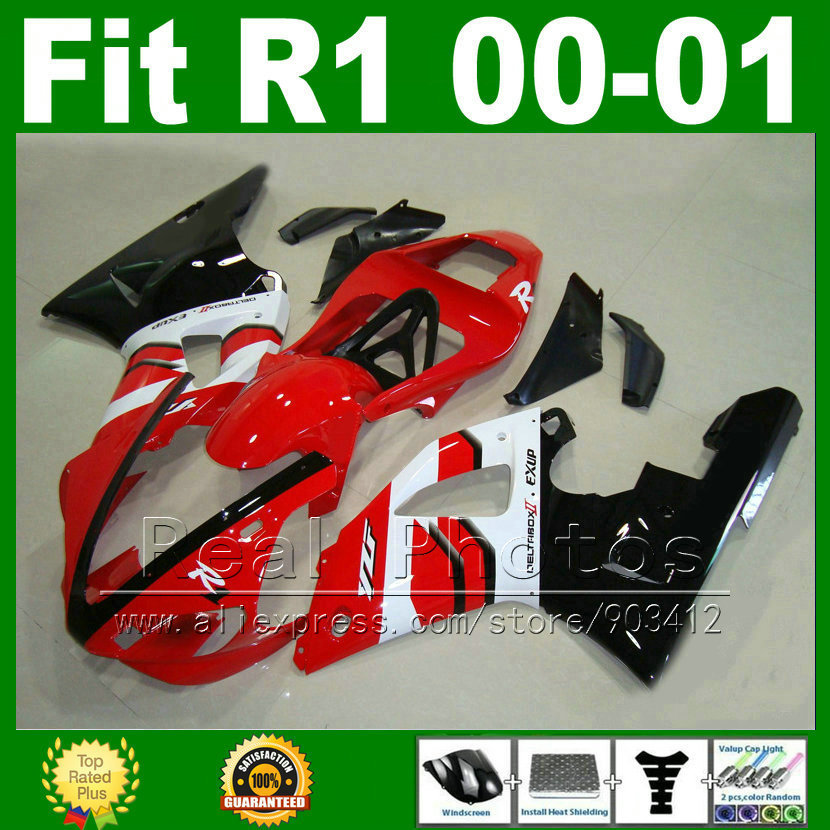 OEM replace Fairings fit for YAMAHA YZF R1 2000 2001 year model Red white YZFR1 00