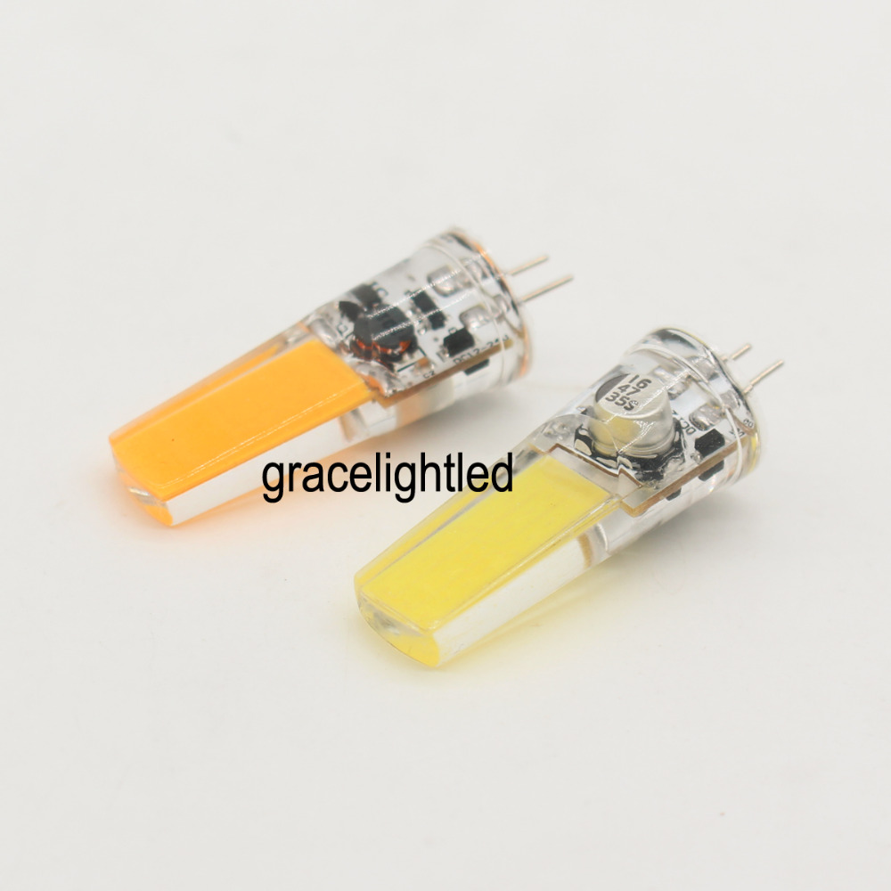 G4 5W COB 2508 ACDC 12-24V Led Dimmable bulb WhiteWarm Silicone Light Lamp